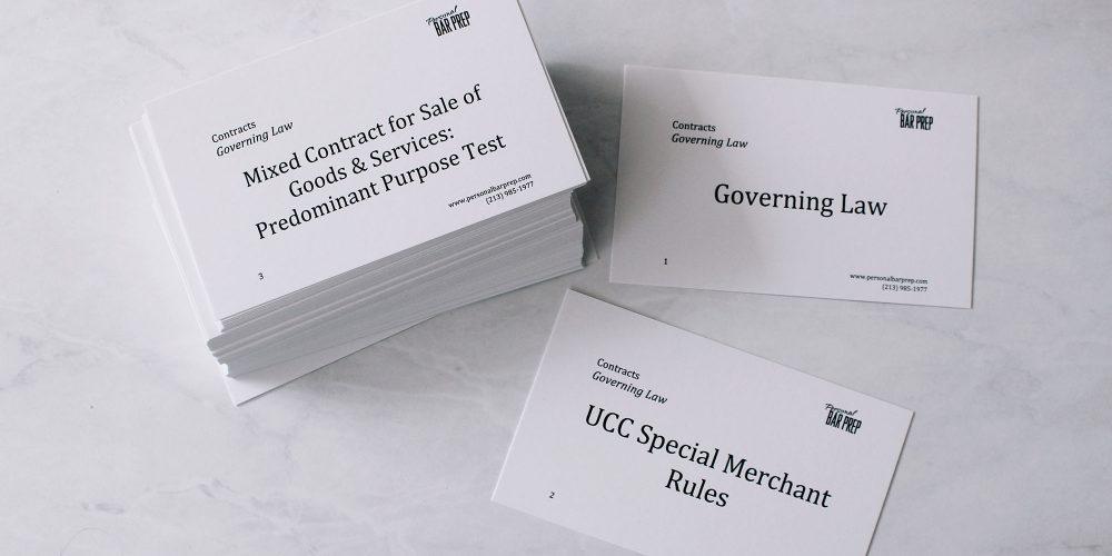 California Bar Exam Flashcards